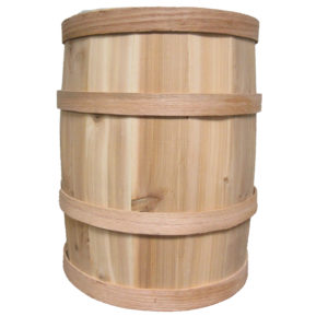 "B105 - 10"" x 15"" Cedar Whole Barrel"