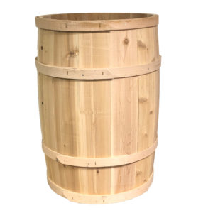 Smooth wooden barrels