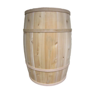 "B200 - 18"" x 30"" Cedar Whole Barrel"