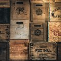 branded wooden crates